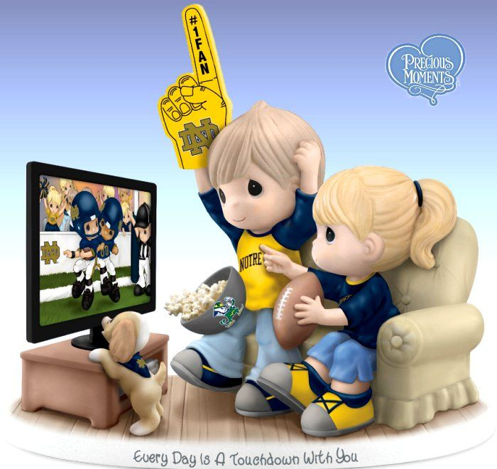 Precious Moments Every Day Is A Touchdown With You - Notre Dame Fighting Irish…