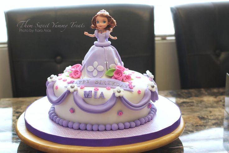 - Princess Sofia the first purple Cake