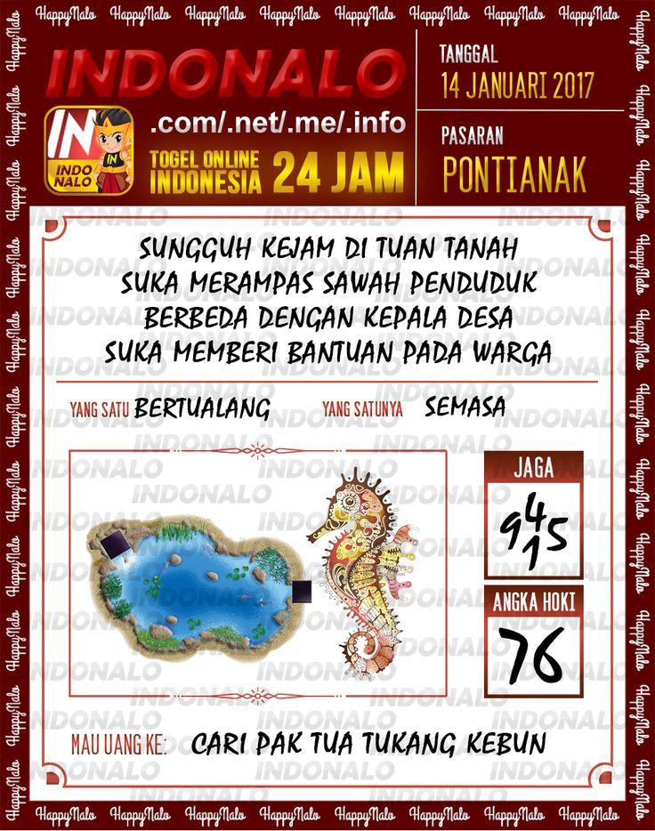 Kode Hoki 2D Togel Wap Online Live Draw 4D Indonalo Pontianak 14 Januari 2017