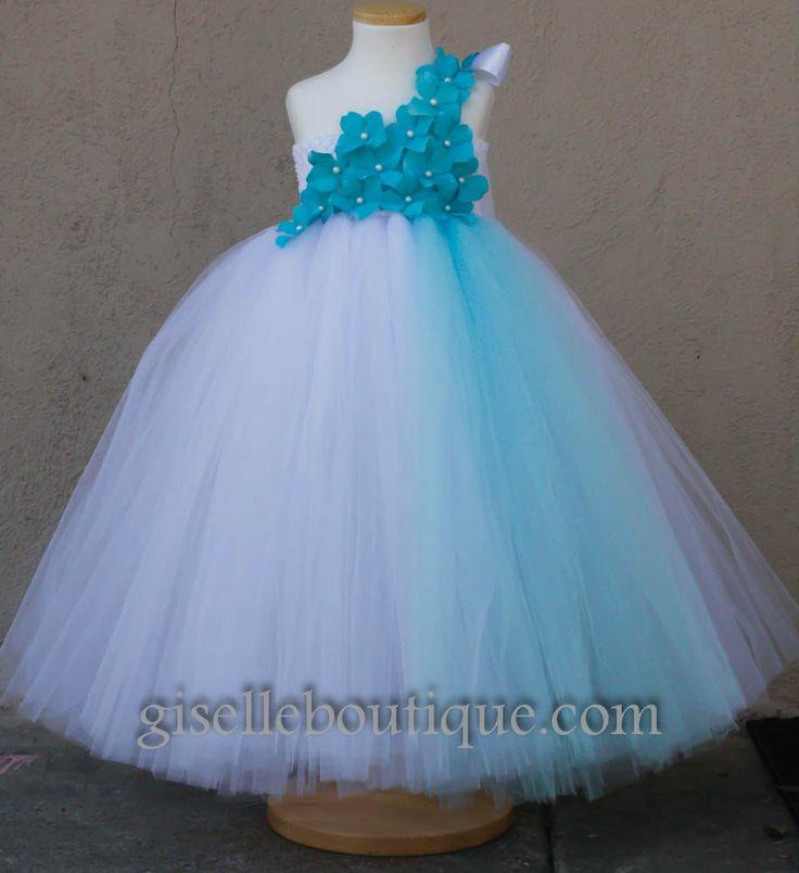 Blue v white dress for girls