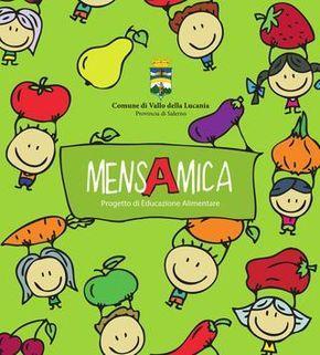 """MensAmica - Progetto di Educazione Alimentare  MensAmica è un progetto semplice, affascinante ed utile, finalizzato a tentare di ri-costruire una visione più «genuina e giusta» dell'alimentazione nel contesto scolastico. Il """"pasto a scuola"""" rappresenta un momento educativo importantissimo per acquisire un sano modello alimentare che sarà molto utile nell'età adulta, ma è anche un'occasione per conoscere, gustare e abituarsi a nuovi sapori in un contesto a misura di bambino."""