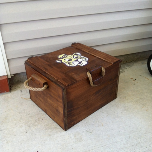 Wooden Ice Chest ~ Lsu wooden ice chest projects pinterest