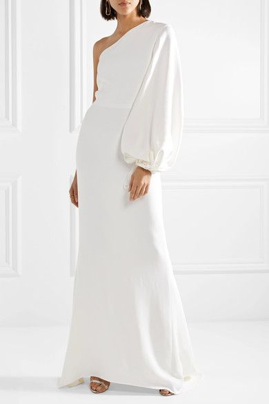 bcb72b33c0b1 Stella McCartney - One-shoulder Stretch-cady Gown - White