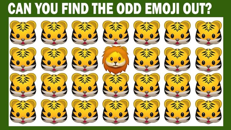 Can You Find The Odd Emoji One Out- Find the Emoji Answers,