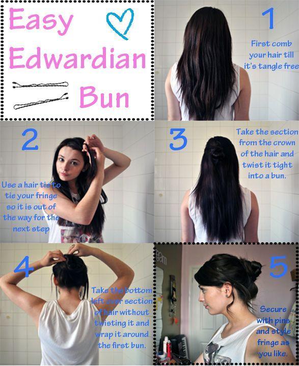 Edwardian Hairstyles Bun Easy Edwardian Bun Tutorial Edwardian Hairstyles Vintage Hairstyles Tutorial Tied Up Hairstyles