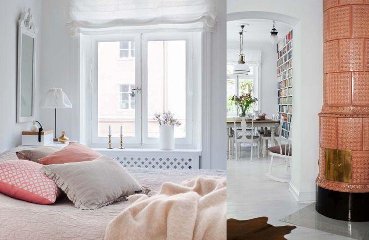 Fransk inredning möter svensk våning och kombinationen är ljuvlig