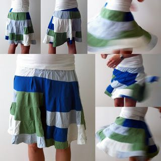 Póló recycling: fodros szoknya | Masni, T-shirt recycling skirt by Masni Decoration