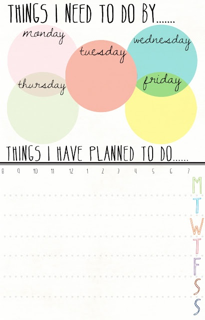 A printable for organizing your weekly genealogy to-do list and making it look pretty!