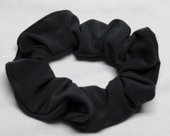 Charcoal Soft and Silky Scrunchies Ponytail by ScrunchieKing