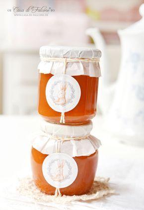Karottenmarmelade {Rezept} & Marmeladenetiketten