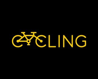 "Another clever execution of integrating a bicycle into type: #logo ""Cycling"" - designed by Jovan Petric"
