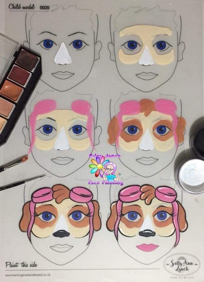 Skye Paw Patrol Mask Face Painting Kinderschminken Kinder