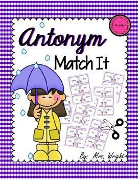 Match It is played much like the game Memory except this game is fun and educational!! The object of the game is to see who can get the most matching pairs. In this case it will a word and its antonym (opposite) match for it. This set includes 42 cards to match!! Easy directions are included.