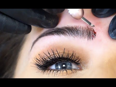 GETTING MY EYEBROWS MICROBLADED! | Carli Bybel - YouTube