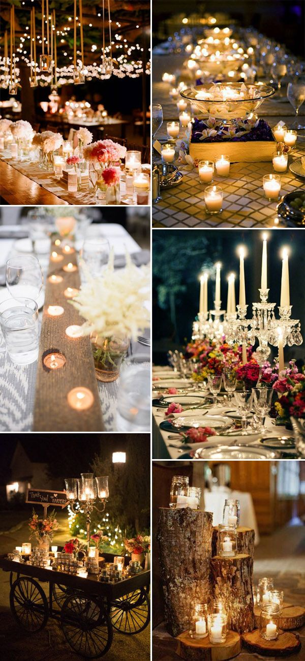 candle lighting ideas for wedding reception decoration ideas