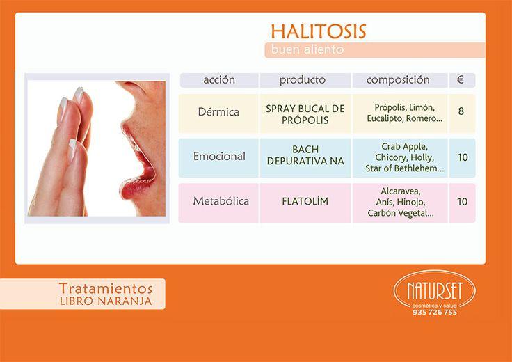 #HALITOSIS - Tratamiento #LibroNaranja de #NATURSET. #Tratamiento100%NATURAL para tener #BuenAliento. Con Spray Bucal de Própolis.
