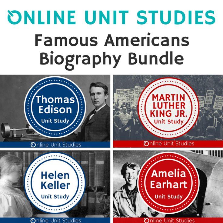 American Biographies Bundle: Thomas Edison, Martin Luther King Jr., Helen Keller, Amelia Earhart