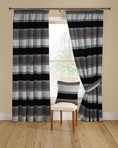 Kansas 51 Black And Grey Curtains