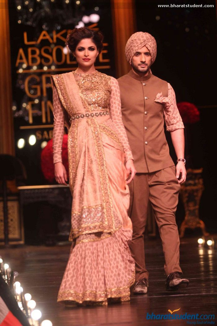 Sari by Sabyasachi at Lakme Fashion Week Winter / Festive ... Sabyasachi Lakme Fashion Week Winter Festive 2013