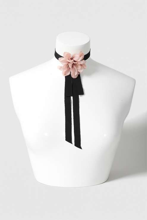 Corsage Flower Choker Necklace