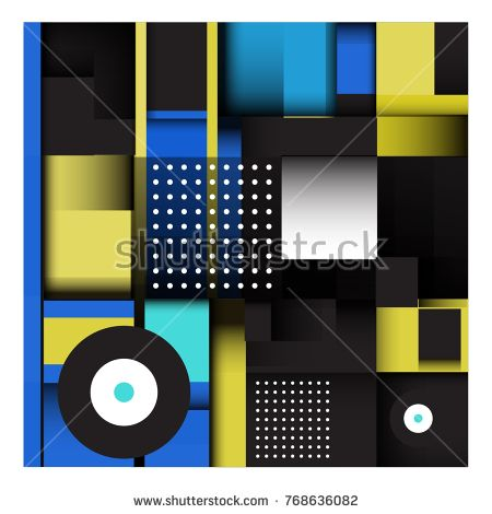 Trendy geometric elements memphis colorful and glowing design. Retro 90's style texture, pattern and elements. Modern abstract background design and cover template.