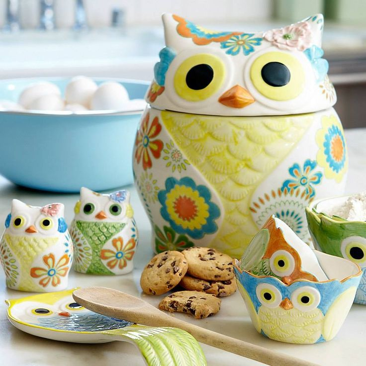 Awesome Owl Stuff For The Home Part - 3: Owl. I Have The Bowls... Need The Cookie Jar!