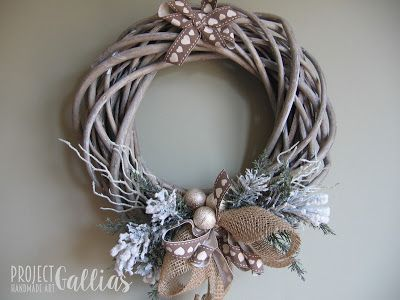Project Gallias: Wianek z łyżwami Christmas, winter wreath  http://projectgallias.blogspot.com