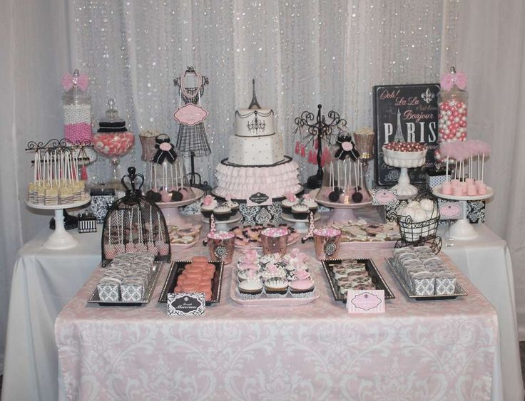 Parisian, French Baby Shower Party Ideas