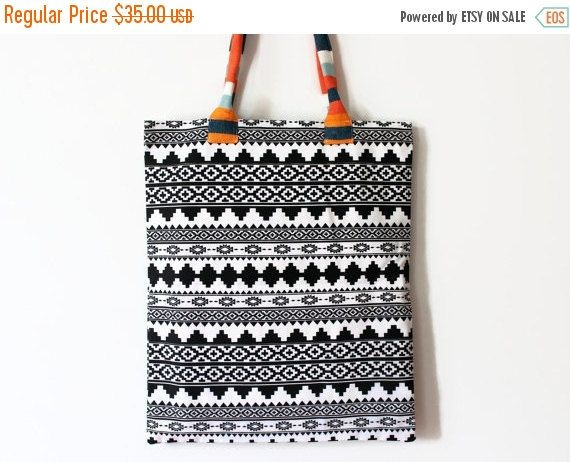 SALE35% Aztec Tote Bag  Navajo Style Handbag  by onTheRainbow