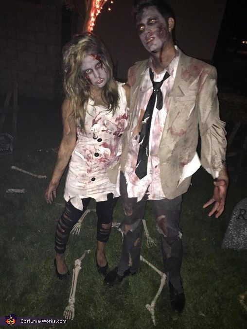 zombie couple costume scary couples costumesunique halloween - Couple Halloween Costumes Scary