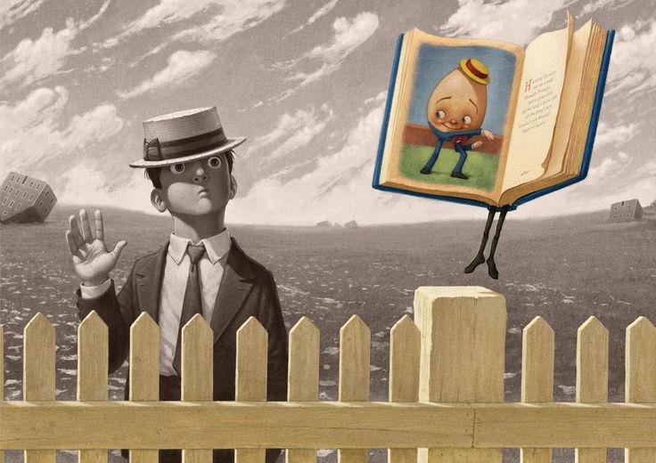 William Joyce - from THE FANTASTIC FLYING BOOKS OF MR. MORRIS LESSMORE.