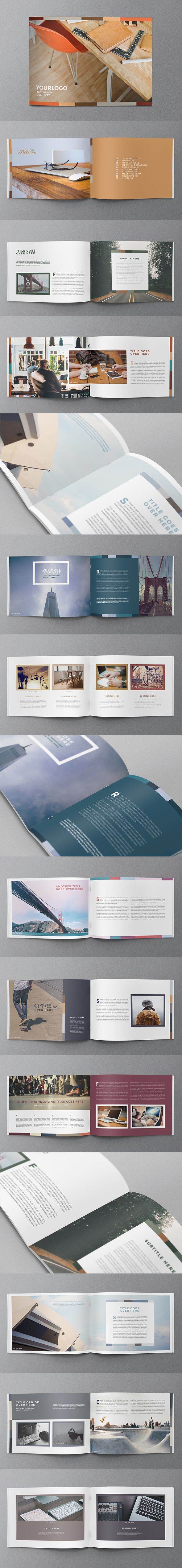 Colorful Minimal Brochure. Download here: http://graphicriver.net/item/colorful-minimal-brochure/11713454?ref=abradesign