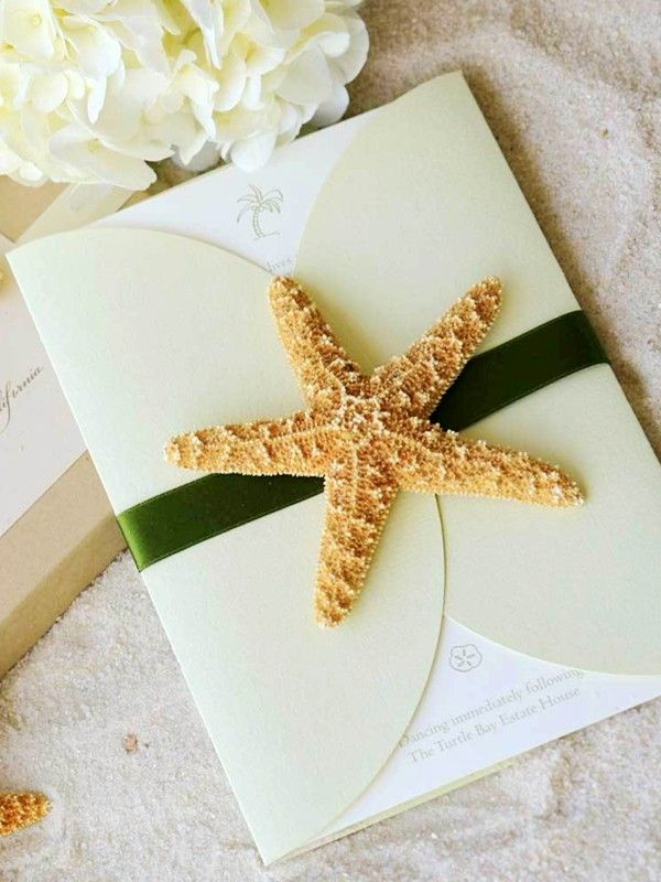 Beach Wedding Invitations, 2014 starfish beach wedding invitations #beach #wedding #invitation www.loveitsomuch.com