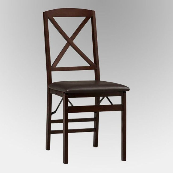 Linon Tremont X-Back Folding Dining Chair - 2 Chairs - 01826ESP-02-AS-U