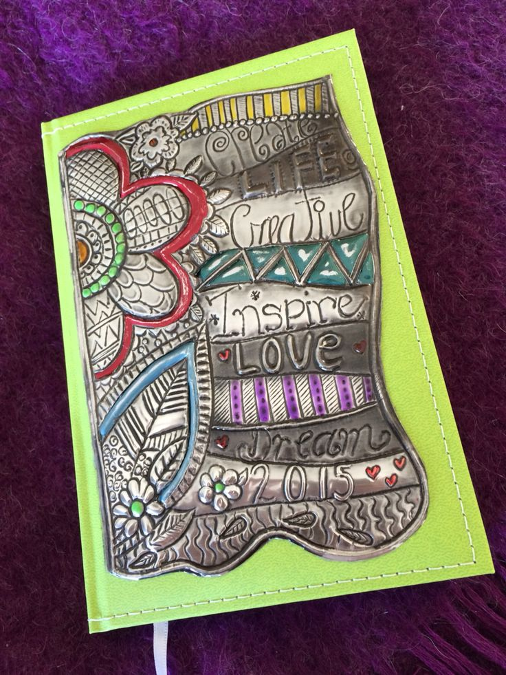 Pewter 2015 diary using color metal shim  Lee @ The Pewter Room