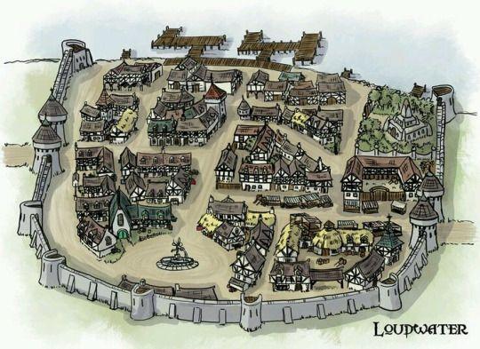 Town village port