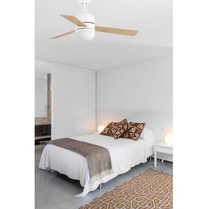 Ventilador de techo blanco Cebu 33606 con luz Ø 1060 de Faro [33606] - 162,02€ :