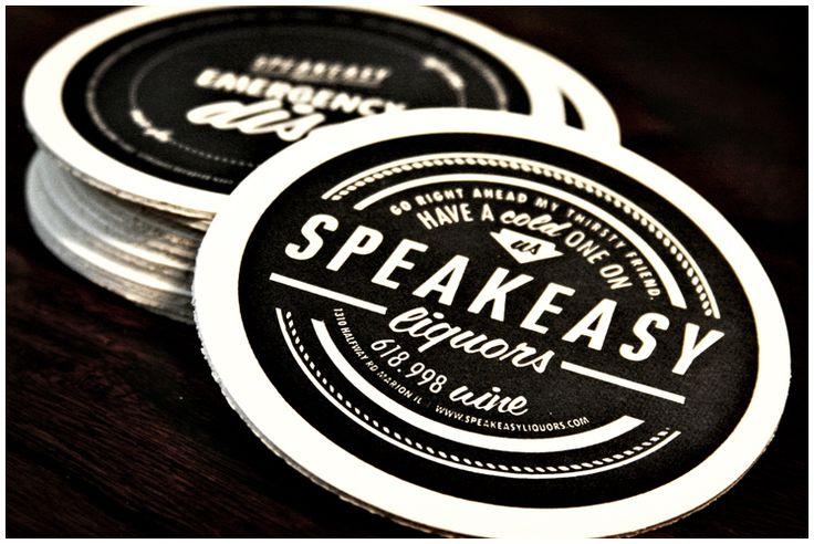 Speakeasy Liquors Beer Coasters