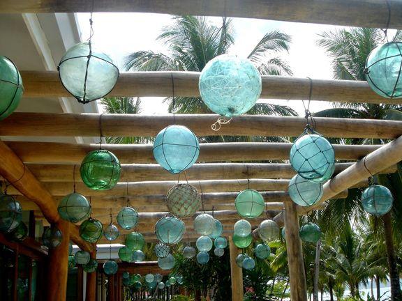 Antique Japanese glass fishing floats/buoys