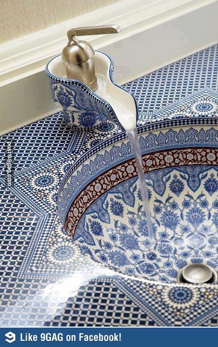 Persian Sink Fun Stuff ☺ Home Mosaic Bathroom Bathroom