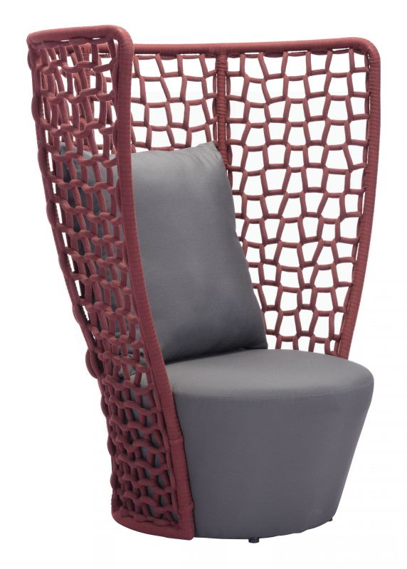 Elegant Faye Bay Beach Chair Cranberry U0026 Gray