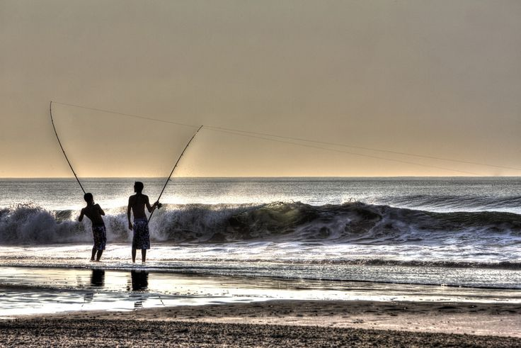 Fishing at sunrise in north wildwood t cannon for Fishing wildwood nj