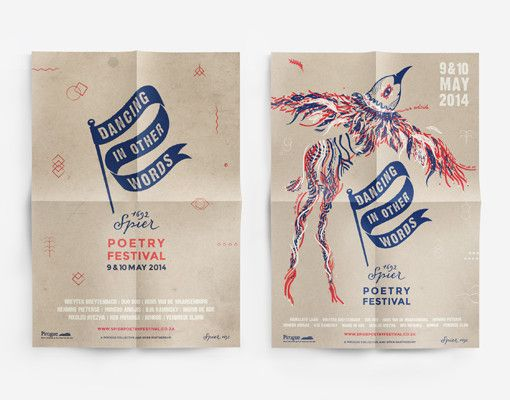 Dancing in other words Poetry Festival - poster design www.room13.co.za