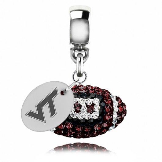 Charmed Memories Virginia Tech University Sterling Silver Charm RGreDe