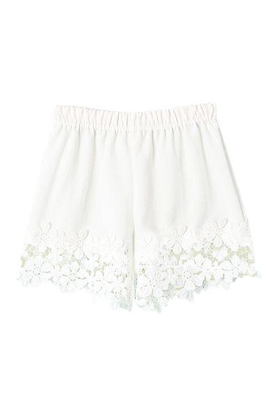 Lace Hem Shorts