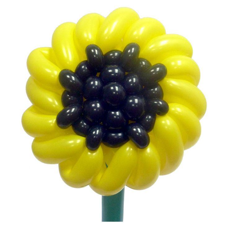 Цветок Подсолнух из воздушных шаров. Видео: https://youtu.be/GNQBQ0LNFj8 Цветы из воздушных шаров, подсолнух из воздушных шаров, flower from balloons, Sunflower from balloons