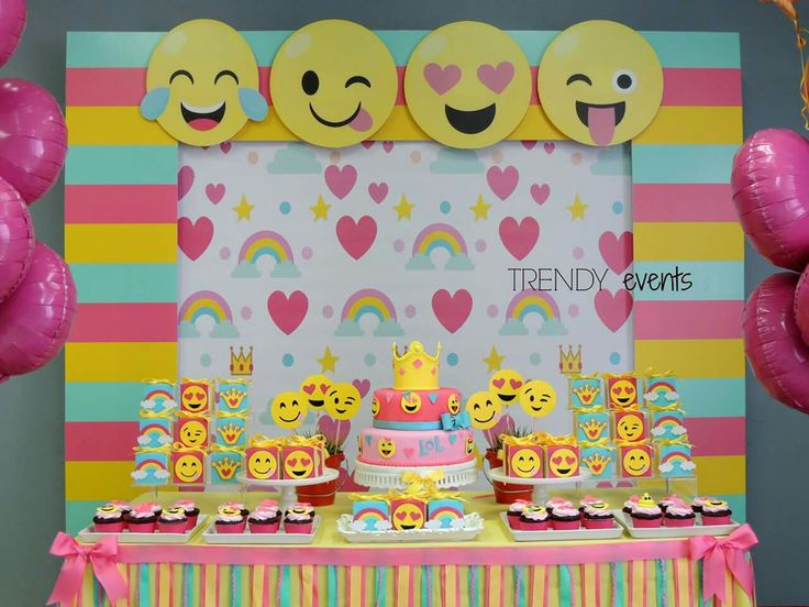 79 best images about emoji party ideas on pinterest for Decoration emoji