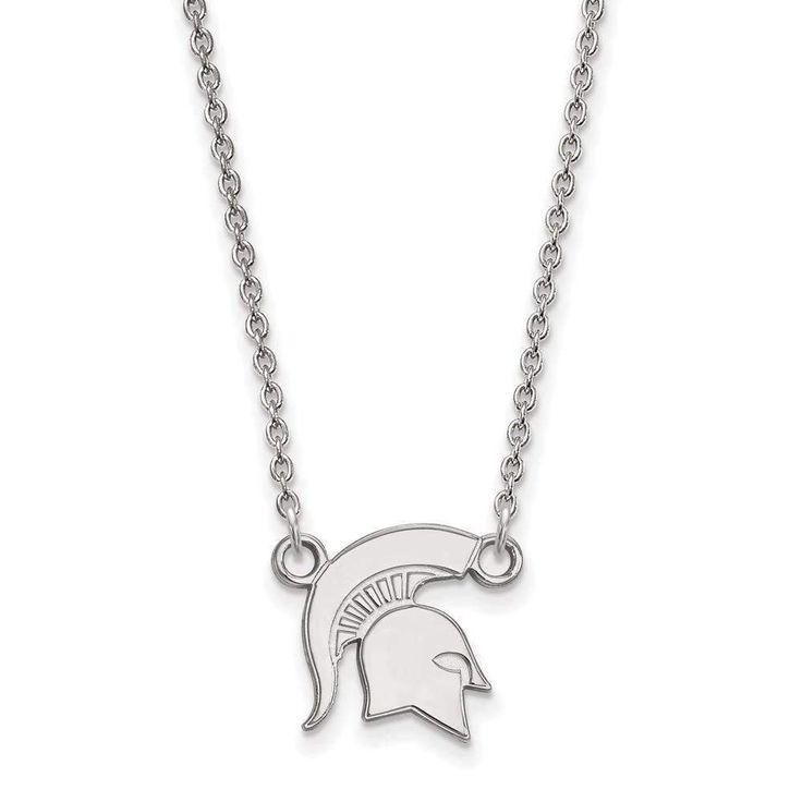 14kw LogoArt Michigan State University Small Pendant w/Necklace