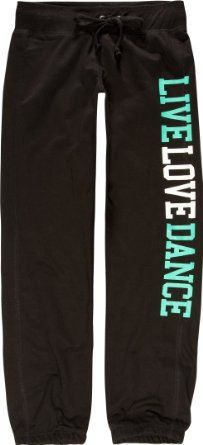 Amazon.com: FULL TILT Live Love Dance Girls Pants: Clothing