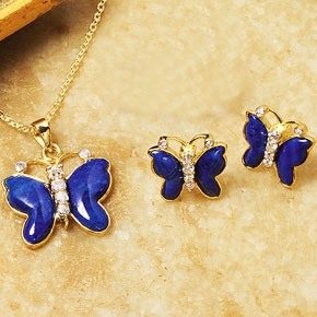 Lapis Butterfly Jewelry